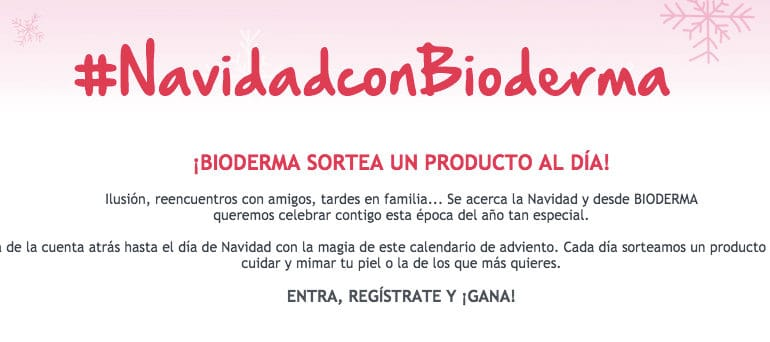 Calendario de Adviento de Bioderma